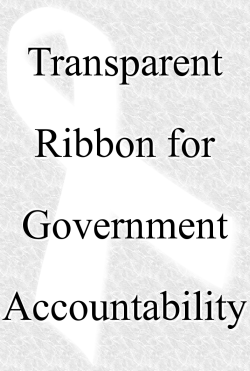 Transparent Ribbon for Government Accountability, text to the side